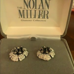 Nolan Miller 'Pave Orchid Earrings'